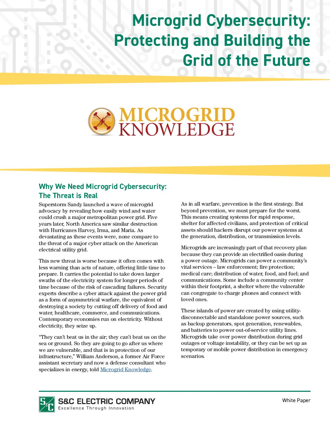 Microgrid Cybersecurity Protecting And Building The Grid Of Electrical Plan Overview