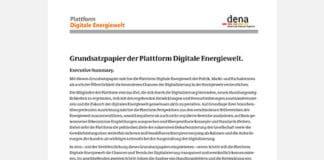 Grundsatzpapier der Plattform Digitale Energiewelt