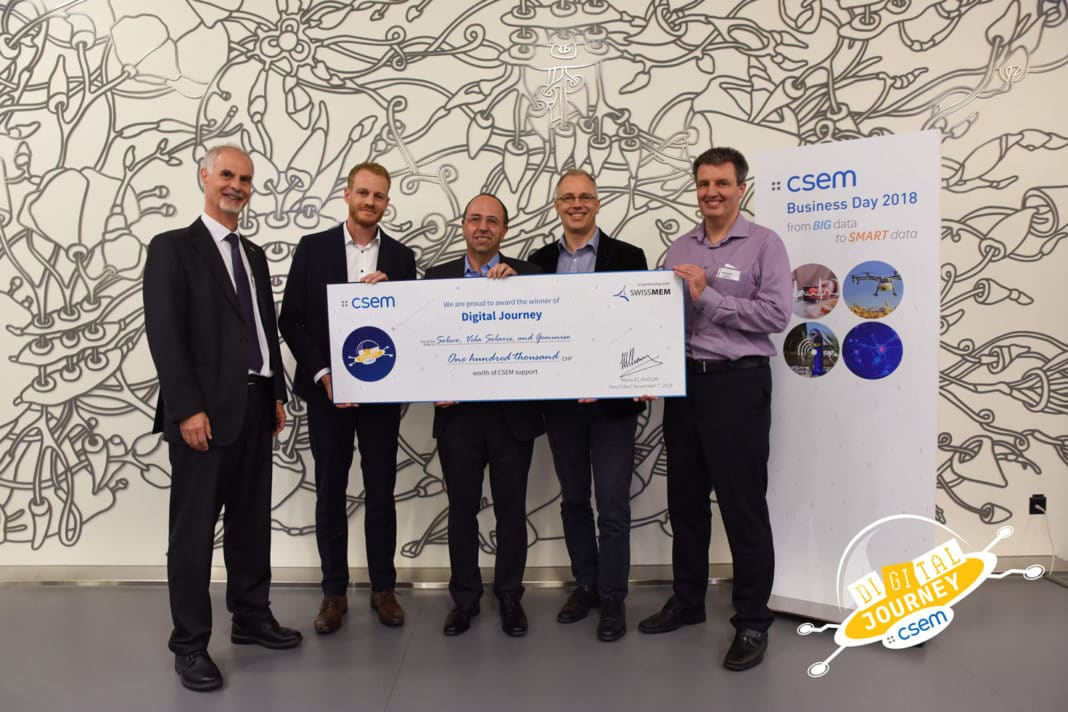A consortium of Zurich SMEs wins the 1st CSEM Digital Journey