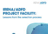 IRENA/ADFD Project Facility: Lessons from the selection process